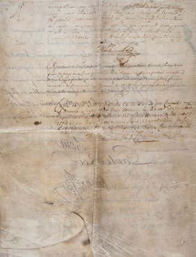 Louis Xv - Letters Patent, Relating To Paul Le Cour Of