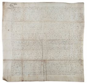 Thanet.- - Charter, Grant By Alexander Norwood To