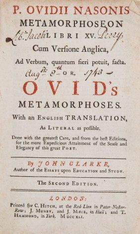 Ovidius Naso (publius) - Metamorphoseon Libri Xv,