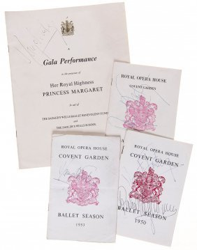 Ballet Programmes - Collection Of Signed Ballet