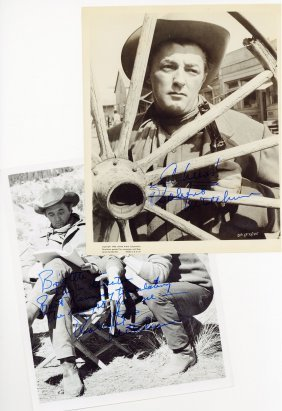 Mitchum, Robert - Three Black And White, Signed