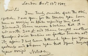 Nelson, Horatio - Autograph Letter Signed To Unknown