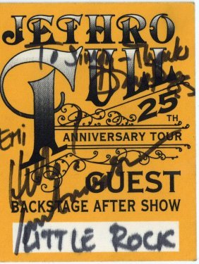 Jethro Tull - Pegg & Anderson - Backstage Pass For The