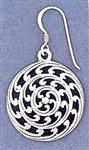 Beautiful Heavy Celtic Swirl Earring