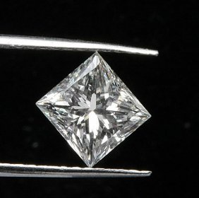 Gia Cert 0.61 Ctw Princess Diamond J/si1