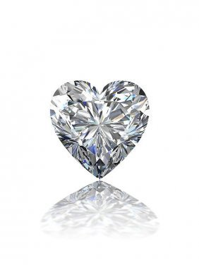 Gia Cert 0.62 Ctw Heart Diamond M/vs2