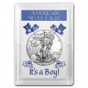 2016 1 Oz Silver American Eagle Bu (it's A Boy! Harris