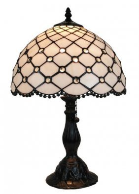 Tiffany Style Jewel Table Lamp 19 Inches Tall