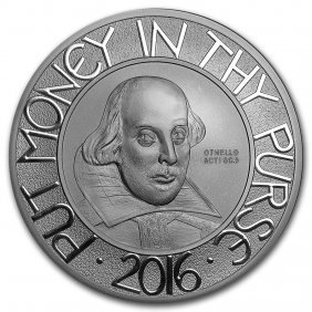 2016 Great Britain Silver 5 Oz Shakespeare Proof (w/box