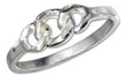 Sterling Silver Open Chain Link Ring
