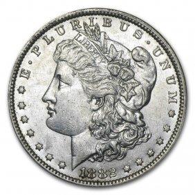 1882-o/s Morgan Dollar Au-58
