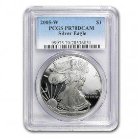 1 Oz Proof Silver American Eagle Pr-70 Pcgs (random Yea