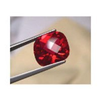 Ruby - 6mm Cushion Cut Loose Lab-created Gemstone