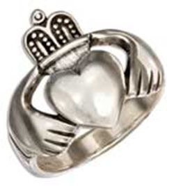 Sterling Silver Large Irish Claddagh Ring