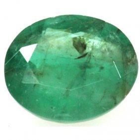 Genuine 4.83 Ctw Emerald Oval Cut
