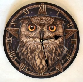 """The Wise One Owl Wall Clock 11"""""""