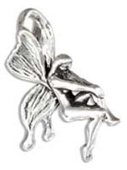 Sterling Silver Three Dimensional Fairy Charm