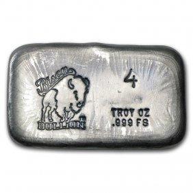 4 Oz Silver Bar - Bison Bullion