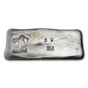 50 Oz Silver Bar - Bison Bullion