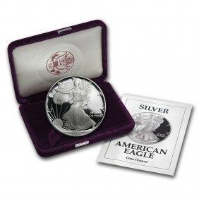 1992-s 1 Oz Proof Silver American Eagle (w/box & Coa)