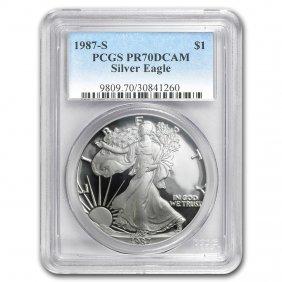 1987-s Proof Silver American Eagle Pr-70 Pcgs (registry