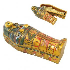 Egyptian Sarcophagus W/ Mummy