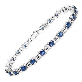 Sapphire Blue:oval/4x3mm 21/5.25 Ctw