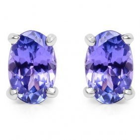 Tanzanite:oval/ 6x4mm 2/0.88 Ctw