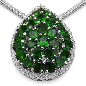Chrome Diopside:oval/4x3mm 23/4.37 Ctw + Chrome Diopsid