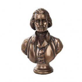 Jefferson Bust Cold Cast Bronze Statue