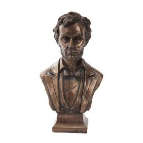 Abraham Lincoln Bust Cold Cast Bronze Statue