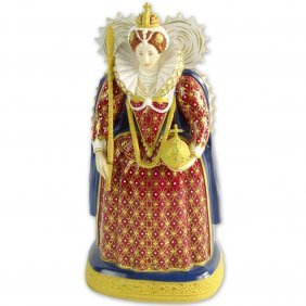 "Royal Worcester Porcelain Figurine ""queen Elizabeth"" Rw"