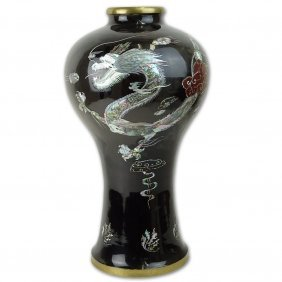 Large Mid 20th Century Korean Mother Of Pearl Inlaid