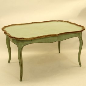 Mid 20th Century Italian Painted And Parcel Gilt
