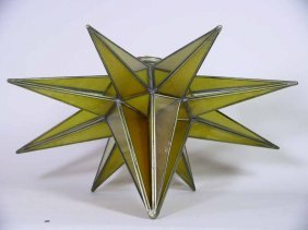 Arts & Crafts Star Hanging Fixture / Chandelier