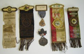 6 Antique Railroad Medals