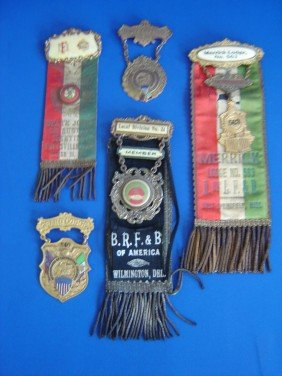 5 Antique Award Medals