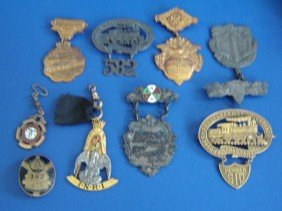 9 Antique Medals
