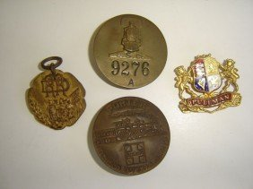 4 Vintage Railroad Pins
