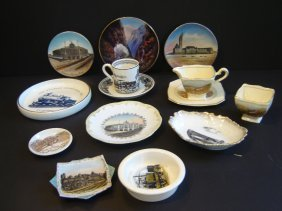 Lot Of Railroad  Related  China Accessories