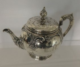 Stunning Ornate  800 Silver Tea Pot