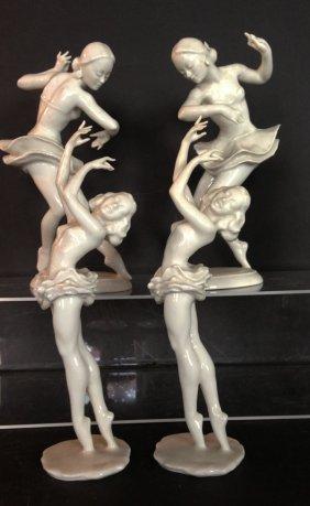 4 Hutchsenreuther Blanc De Shin Ballerinas