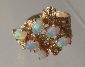 Retro 14 K Opal Ring
