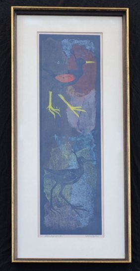 Signed Irving Amen Sandpipers Litho