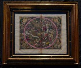 Andreas Cellarius Coeli Christi Misphae Map