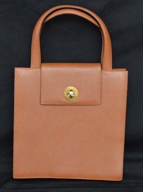 Brown Leather Bulgari Purse