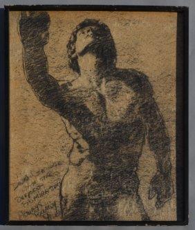 Barry Gross Nude Male Drawing