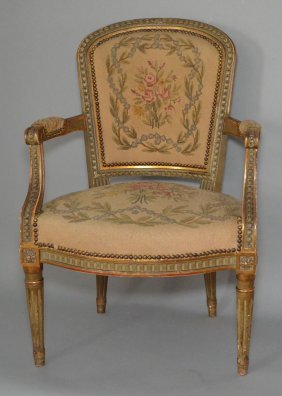 Pr Of Louis Xvi Style Fauteuil Chairs