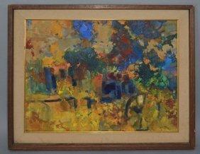 Mid Century Roy Johnson Abstract Painting
