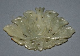 Carved Mutton Fat Jade Pendant